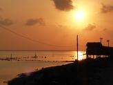 Fisherman house sunset